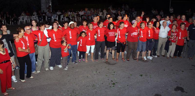 Gruppo volontari a partila, festival dei popoli
